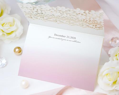 結婚式招待状(手作りキット) フィーユA【Name on Card タイプ】 サポート画像2 (拡大)