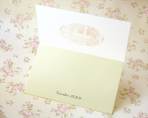 結婚式招待状(手作りキット) フォリアB【Name on Card タイプ】 サポート画像2 (拡大)
