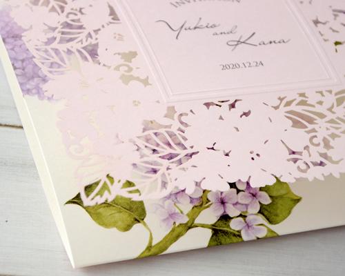 結婚式招待状(手作りキット) ライラック【Name on Card タイプ】 サポート画像2 (拡大)