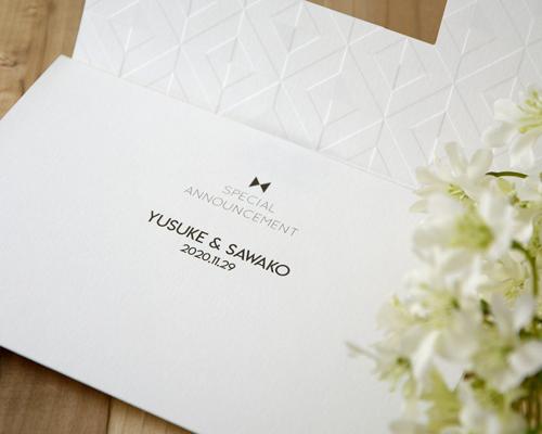 結婚式招待状(手作りキット) モディA【Name on Card タイプ】 サポート画像2 (拡大)