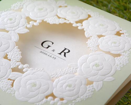 結婚式招待状(手作りキット) ミントA【Name on Card タイプ】 サポート画像2 (拡大)