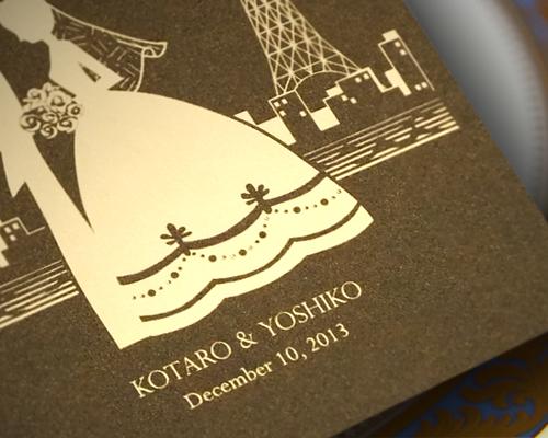 結婚式招待状(手作りキット) ハーモニー(東京ベイエリア)【Name on Card タイプ】 サポート画像2 (拡大)