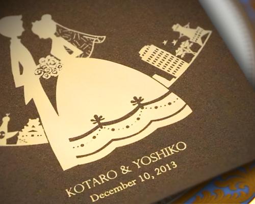 結婚式招待状(手作りキット) ハーモニー(大阪)【Name on Card タイプ】 サポート画像2 (拡大)