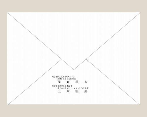 結婚式招待状(印刷込み) フォリアA サポート画像2 (拡大)