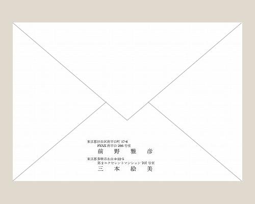 結婚式招待状(印刷込み) アダージョBW(ブラウン) サポート画像2 (拡大)