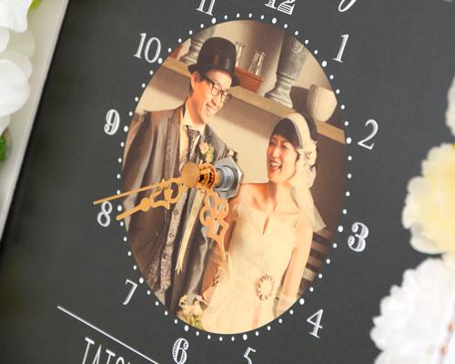 ウェルカムボード(フォトタイプ) フォトフラワー(時計付き) タイプ8 サポート画像3 (拡大)