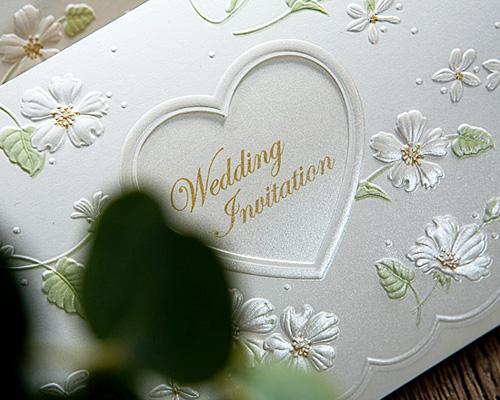 結婚式招待状(手作りキット) ラ・フルールW(ホワイト) サポート画像3 (拡大)