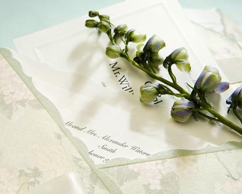 結婚式招待状(手作りキット) ジャパネスクGR(グリーン) サポート画像3 (拡大)