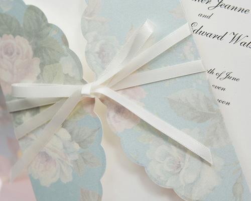 結婚式招待状(手作りキット) ギフトBL(ブルー) サポート画像3 (拡大)