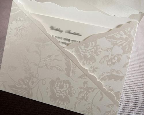 結婚式招待状(手作りキット) ジャパネスクW(ホワイト) サポート画像3 (拡大)