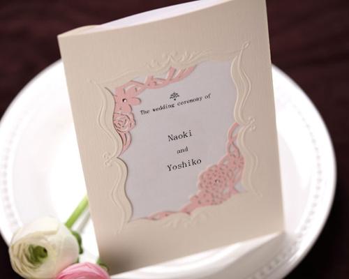 結婚式招待状(手作りキット) メモリーズP(ピンク) サポート画像3 (拡大)