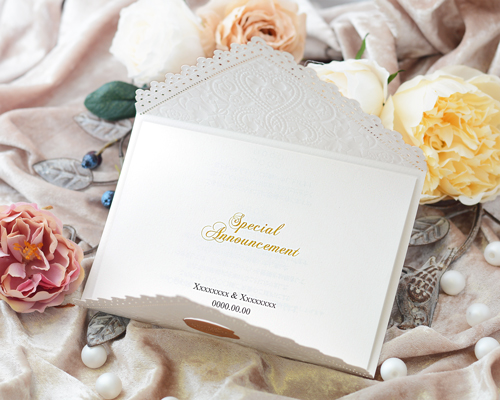 結婚式招待状(手作りキット) レットルW(ホワイト) サポート画像3 (拡大)