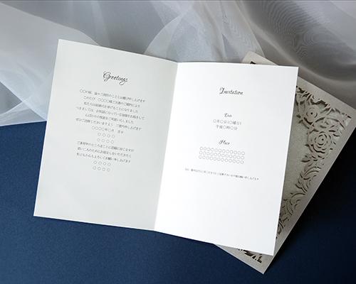 結婚式招待状(手作りキット) ジャルダンSV(シルバー) サポート画像3 (拡大)