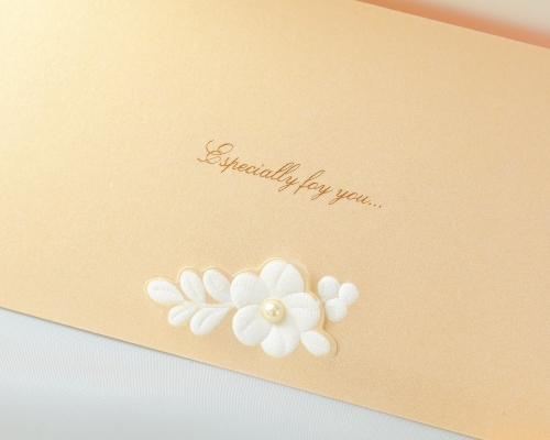 結婚式招待状(手作りキット) セントポーリアBE(ベージュ) サポート画像3 (拡大)