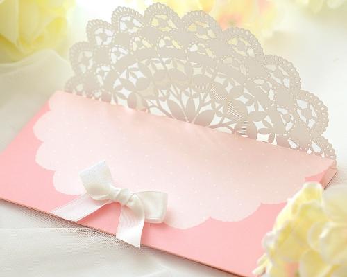結婚式招待状(手作りキット) セントポーリアP(ピンク) サポート画像3 (拡大)