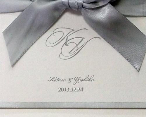 結婚式招待状(手作りキット) セレナード【Name on Card タイプ】 サポート画像3 (拡大)