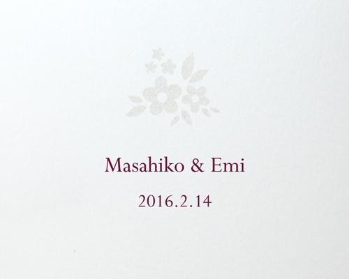 結婚式招待状(手作りキット) フェリチタWR(ワインレッド)【Name on Card タイプ】 サポート画像3 (拡大)