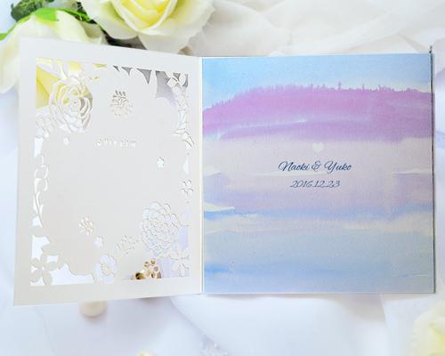 結婚式招待状(手作りキット) コクリコA【Name on Card タイプ】 サポート画像3 (拡大)