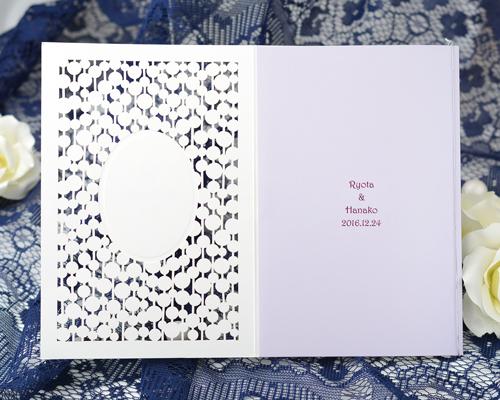 結婚式招待状(手作りキット) コートリーWR(ワインレッド)【Name on Card タイプ】 サポート画像3 (拡大)