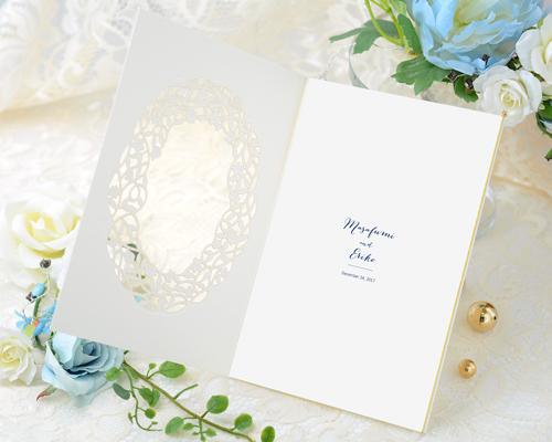 結婚式招待状(手作りキット) デリカBL(ブルー)【Name on Card タイプ】 サポート画像3 (拡大)