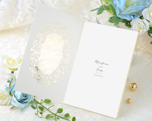 結婚式招待状(手作りキット) デリカGY(グレー)【Name on Card タイプ】 サポート画像3 (拡大)