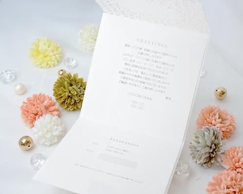 結婚式招待状(手作りキット) ラブリA【Name on Card タイプ】 サポート画像3 (拡大)