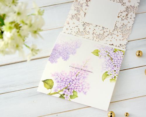 結婚式招待状(手作りキット) ライラック【Name on Card タイプ】 サポート画像3 (拡大)