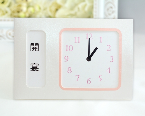 ウェルカムボード(フォトタイプ) フォトフラワー(時計付き) タイプ5 サポート画像4 (拡大)