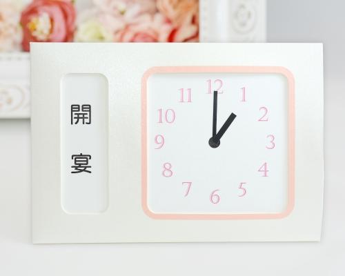 ウェルカムボード(フォトタイプ) フォトフラワー(時計付き) タイプ7 サポート画像4 (拡大)