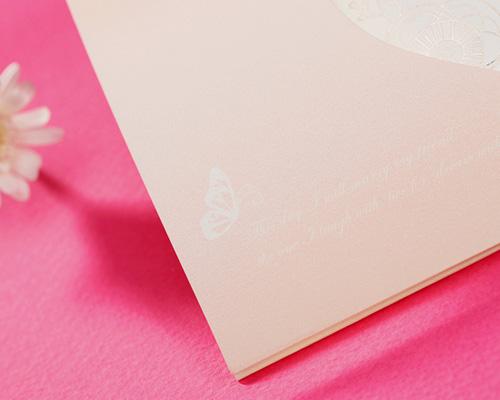 結婚式招待状(手作りキット) パピヨンP(ピンク) サポート画像4 (拡大)