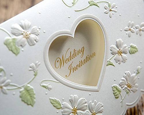 結婚式招待状(手作りキット) ラ・フルールW(ホワイト) サポート画像4 (拡大)