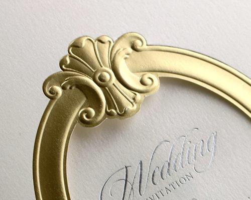 結婚式招待状(手作りキット) ミロワールG(ゴールド) サポート画像4 (拡大)
