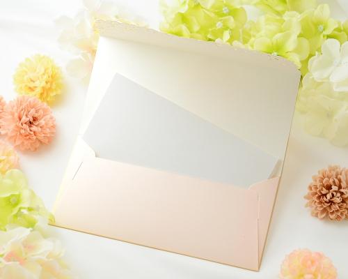 結婚式招待状(手作りキット) セントポーリアBE(ベージュ) サポート画像4 (拡大)