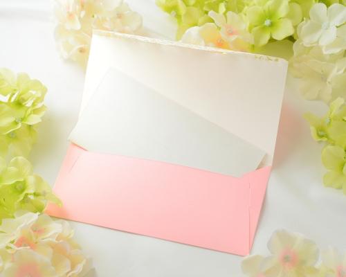 結婚式招待状(手作りキット) セントポーリアP(ピンク) サポート画像4 (拡大)