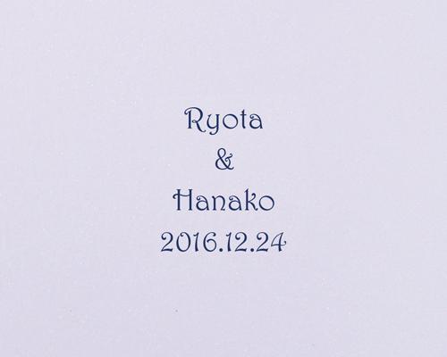 結婚式招待状(手作りキット) コートリーBL(ブルー)【Name on Card タイプ】 サポート画像4 (拡大)