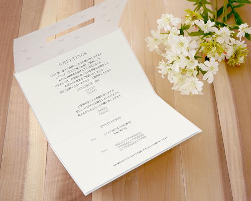 結婚式招待状(手作りキット) モディA【Name on Card タイプ】 サポート画像4 (拡大)