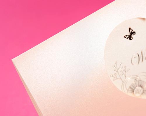 結婚式招待状(手作りキット) パピヨンP(ピンク) サポート画像5 (拡大)