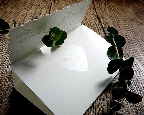 結婚式招待状(手作りキット) ラ・フルールW(ホワイト) サポート画像5 (拡大)