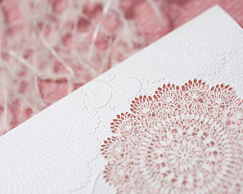 結婚式招待状(手作りキット) レースP(ピンク) サポート画像5 (拡大)