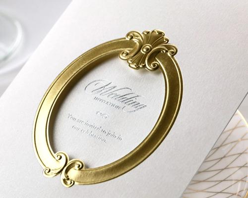 結婚式招待状(手作りキット) ミロワールG(ゴールド) サポート画像5 (拡大)