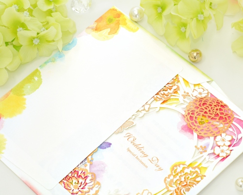 結婚式招待状(手作りキット) フラワリー サポート画像5 (拡大)