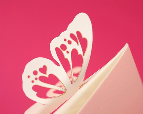 結婚式招待状(手作りキット) パピヨンP(ピンク) サポート画像6 (拡大)