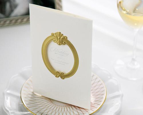 結婚式招待状(手作りキット) ミロワールG(ゴールド) サポート画像6 (拡大)