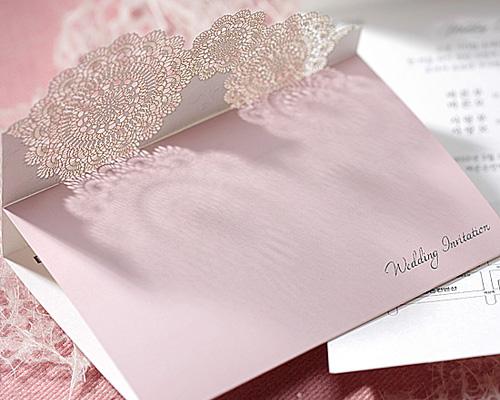 結婚式招待状(手作りキット) レースP(ピンク) サポート画像7 (拡大)
