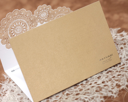 結婚式招待状(手作りキット) レースBW(ブラウン) サポート画像8 (拡大)