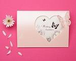結婚式招待状(手作りキット) パピヨンP(ピンク)