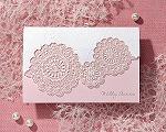 結婚式招待状(手作りキット) レースP(ピンク)