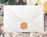結婚式招待状(手作りキット) レットルW(ホワイト)