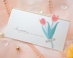 結婚式招待状(手作りキット) チューリップB