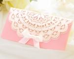 結婚式招待状(手作りキット) セントポーリアP(ピンク)